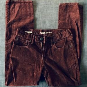 GAP Kids Maroon Corduroy Straight Leg Pants